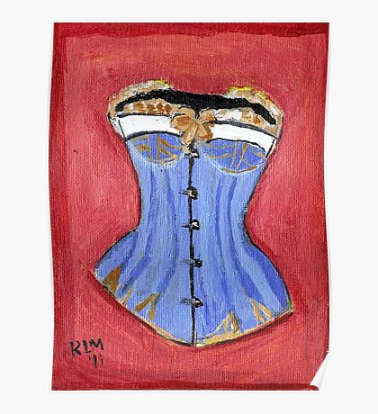 Baby Blue Bustier' Poster