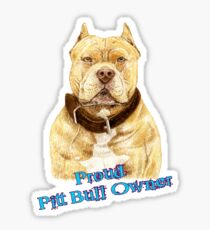 Pit Bull Loveable and Proud Sticker