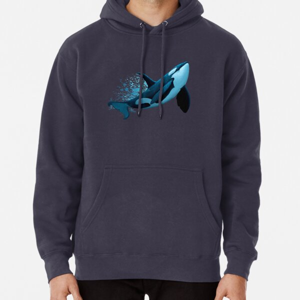 """The Dreamer"" by Amber Marine ~ (Copyright 2015) orca art / killer whale digital painting Pullover Hoodie"