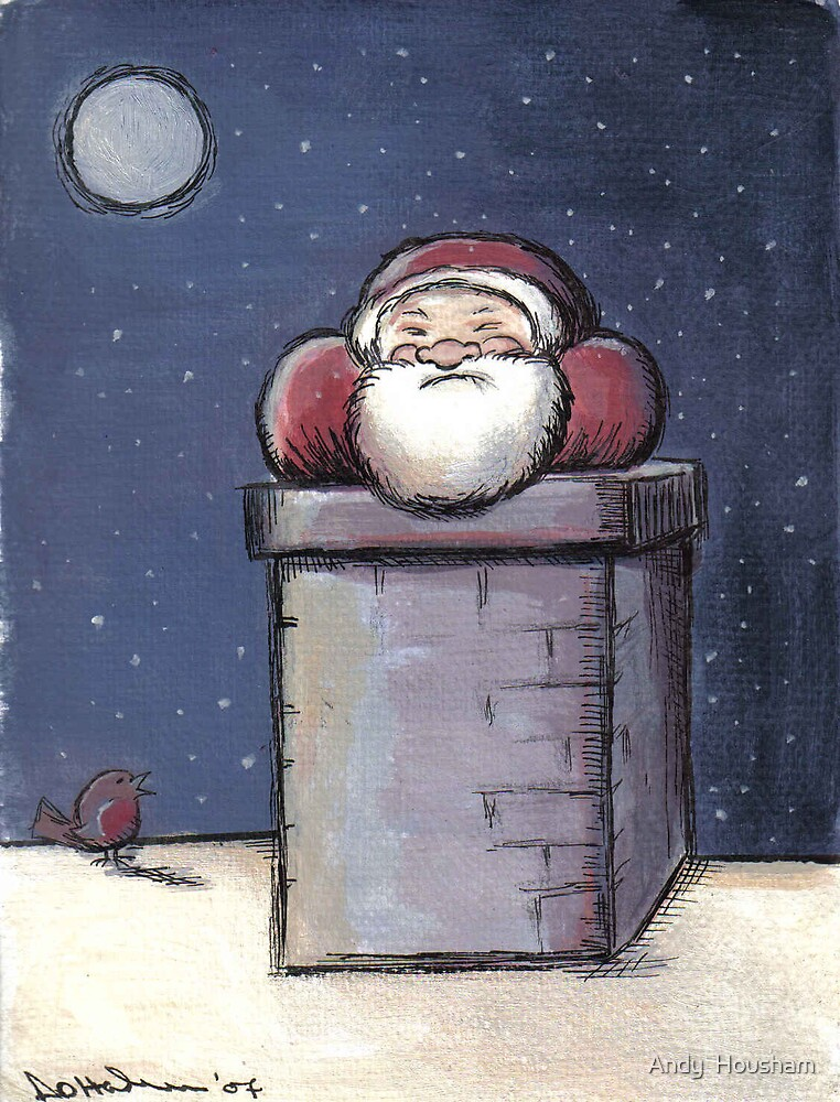 Santa stuck in the Chimney by Andy  Housham