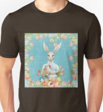 Beautiful Floral Flowers Female Animal Easter Bunny  Unisex T-Shirt