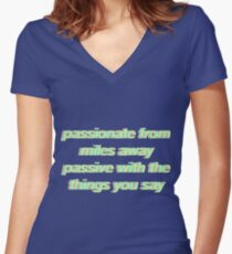 PASSIONFRUIT Women's Fitted V-Neck T-Shirt