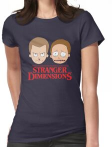 Stranger Dimensions (Stranger Things X Rick and Morty) Womens Fitted T-Shirt