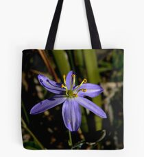 Tufted Blue Lily Tote Bag