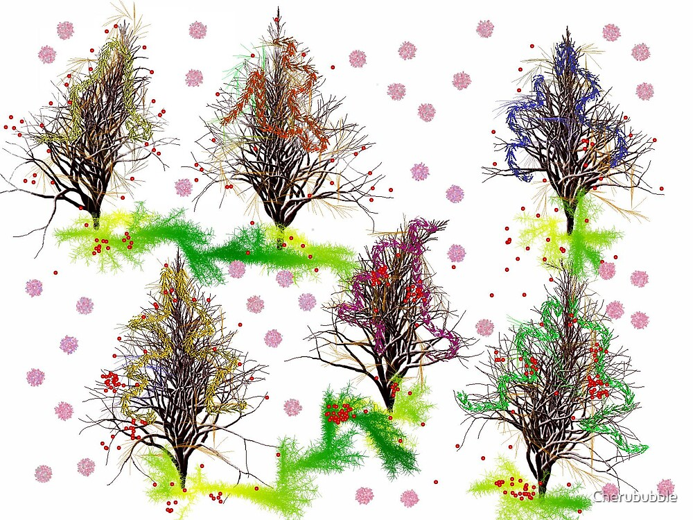 Christmas Trees by Cherububble
