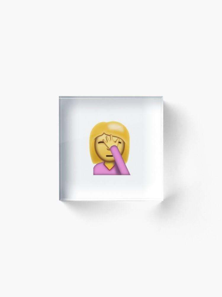 Girl Facepalm Emoji   Acrylic Block