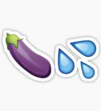 Sexting Eggplant Emoji Collection Sticker