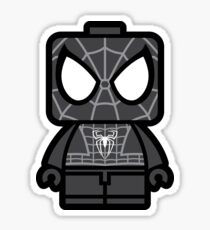 Black Spidey Chibi Man Sticker