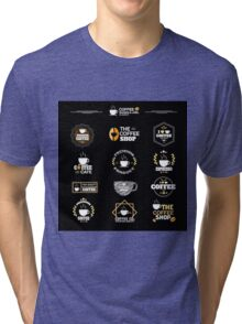 Coffee Labels Collection Tri-blend T-Shirt
