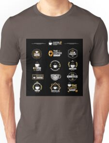 Coffee Labels Collection Unisex T-Shirt