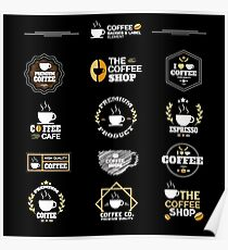 Coffee Labels Collection Poster