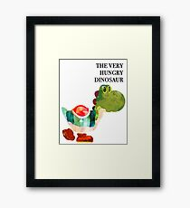 The Very Hungry Dinosaur (Text) Framed Print
