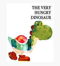 The Very Hungry Dinosaur (Text) Photographic Print