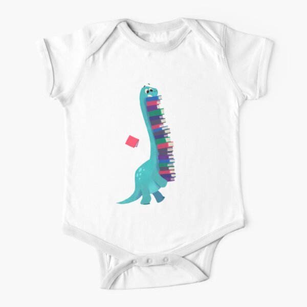 BOOK DINOSAURS 01 Short Sleeve Baby One-Piece