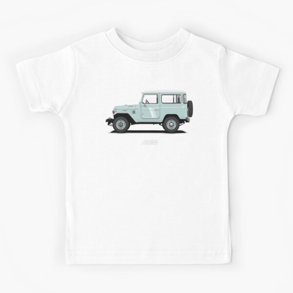 Land Cruiser FJ40 HardTop Blue Kids T-Shirt