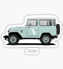 Land Cruiser FJ40 HardTop Blue Sticker