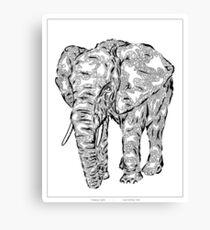 """Elephant Spirit"" version1 - surreal tribal totem animal Canvas Print"