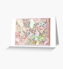 psychedelic patriot Greeting Card