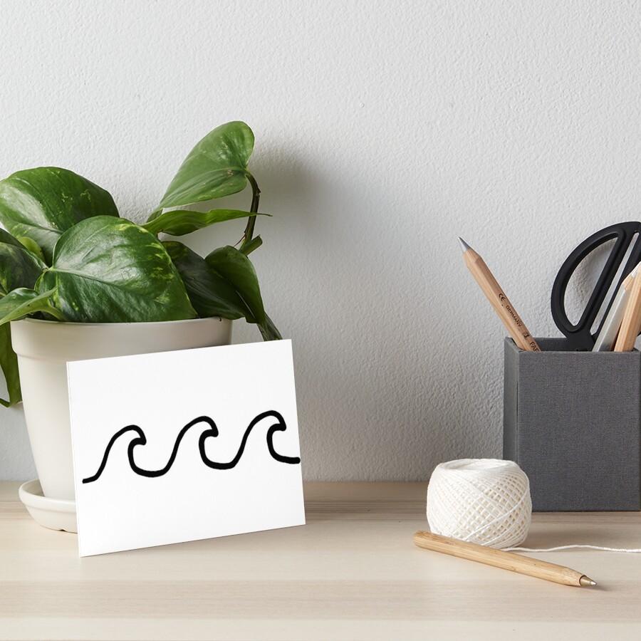 Waves Art Board Print