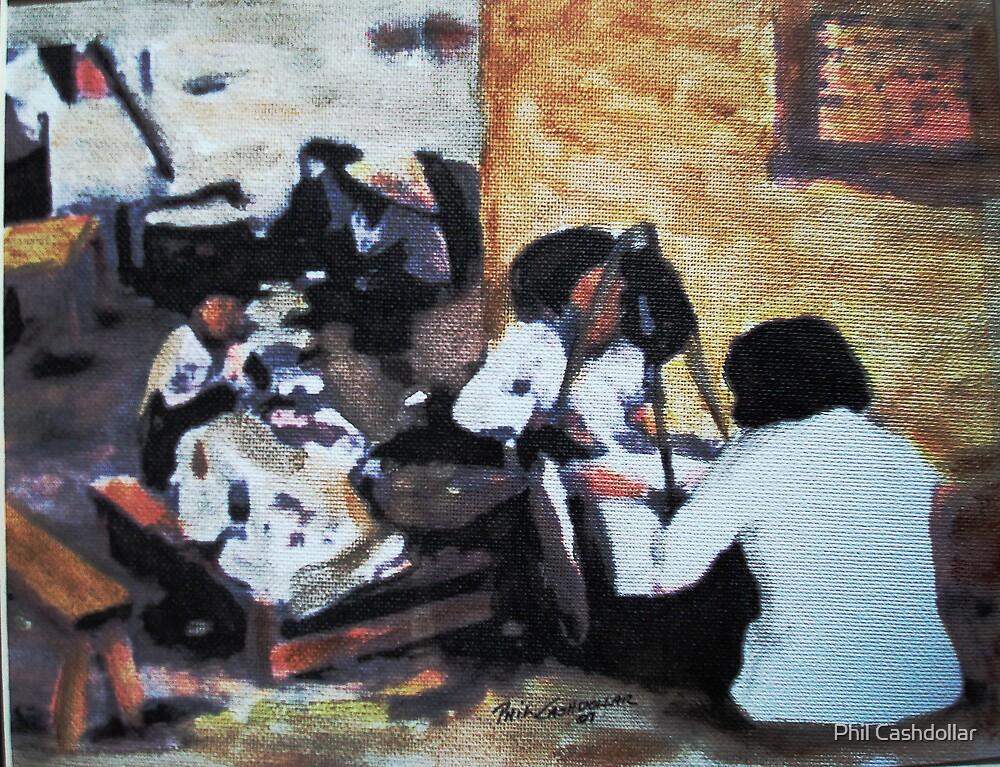 Vietnam Market Place 1970 by Phil Cashdollar