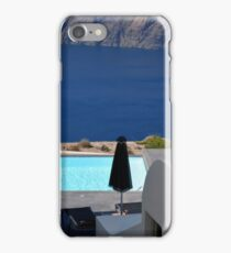 Swimming pool near the sea in Santorini, Greece iPhone Case/Skin
