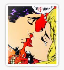 Banksy? Graffiti vs Pop Art Kiss Sticker