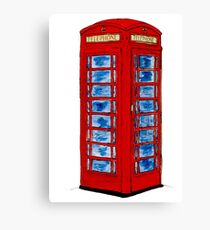 English Telephone Box Canvas Print