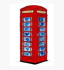 English Telephone Box Photographic Print