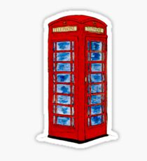 English Telephone Box Sticker