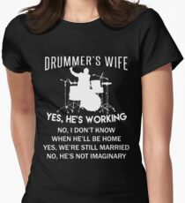 Drummer's wife T-shirt Womens Fitted T-Shirt