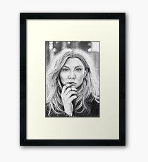 Natalie Dormer Portrait Drawing Framed Print