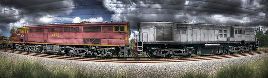Diesel Electric Locomotives 4473 and 4501 by Clayton Haynes
