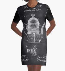 Cofee Pot Graphic T-Shirt Dress