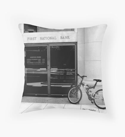 Ride In Banking Throw Pillow