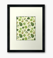 Greenery and lime Framed Print