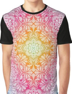 Rainbow Flowers Mandala I Graphic T-Shirt