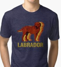 Vintage Labrador Retriever I Love Dogs Retro Art Tri-blend T-Shirt