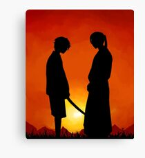 Samurai Sunset Canvas Print