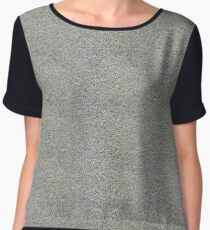 Silver Leather Skin | Texture Chiffon Top