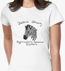Zebra strong - HSD Womens Fitted T-Shirt