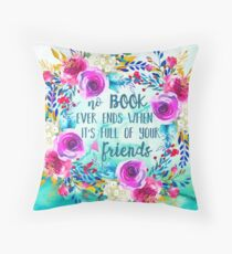 Book Friends Throw Pillow