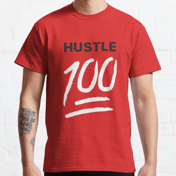 Hustle 100!! Red Classic T-Shirt