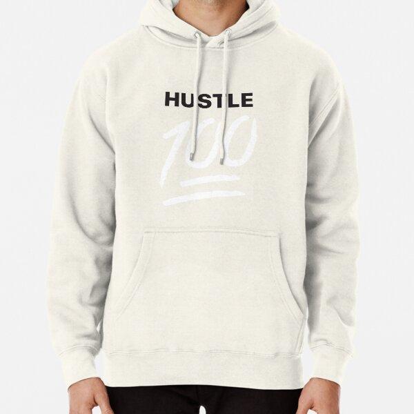 Hustle 100!! Red Pullover Hoodie