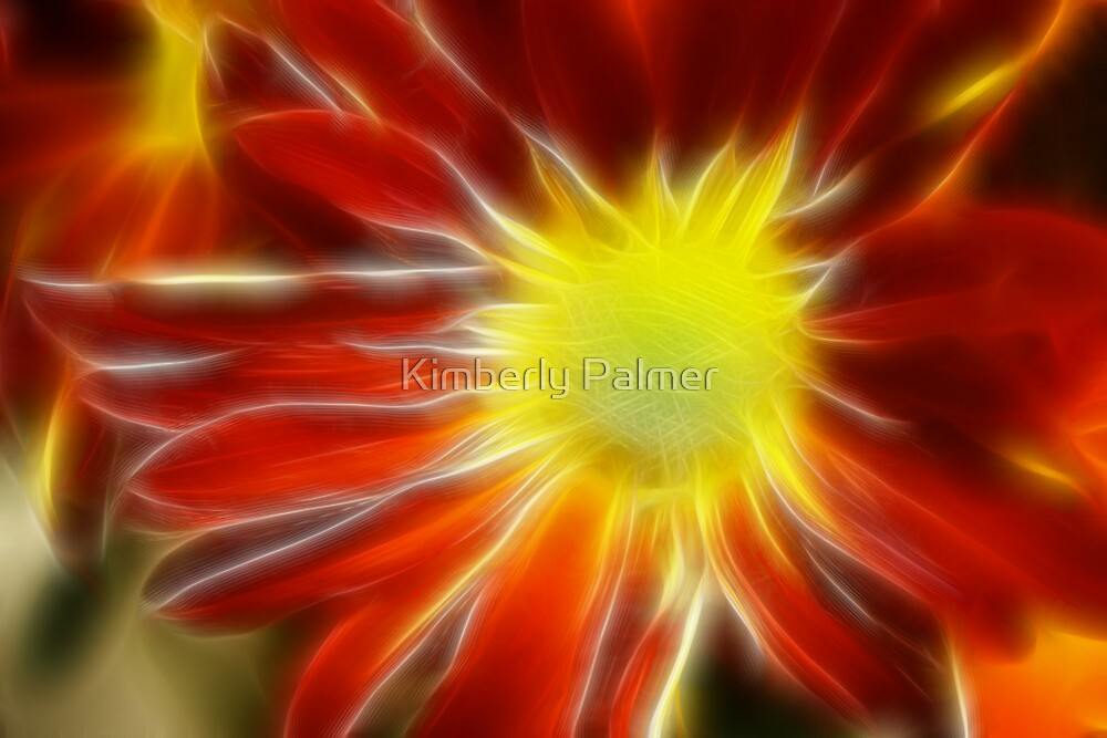 Fractal of a Daisy by Kimberly Palmer