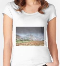 Two Valley's Snowstorm Women's Fitted Scoop T-Shirt
