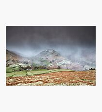 Two Valley's Snowstorm Photographic Print