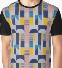 Blue and Yellow Modern Geometric Pattern #home #lifestyle Graphic T-Shirt