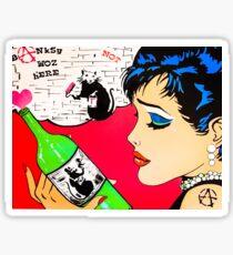 Graffiti rats vs pop art beauty  Sticker