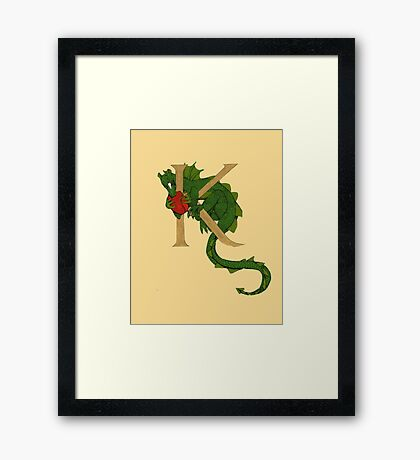 "Oscar and the Roses ""K - Tail"" (Illustrated Alphabet) Framed Print"
