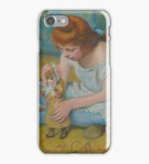 Federico Zandomeneghi - Young Girl Playing With A Doll iPhone Case/Skin